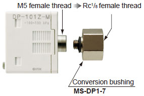 Rc1/8 conversion bushing is available.